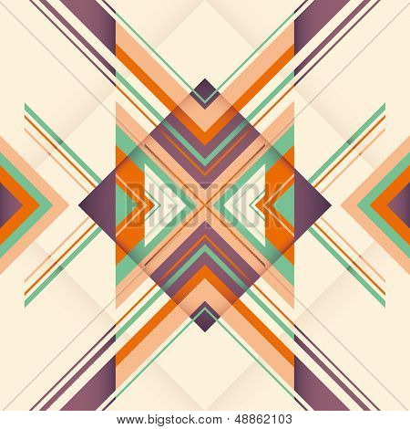 Modish abstraction with geometric objects. Vector illustration.