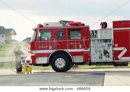 Washing Firetruck