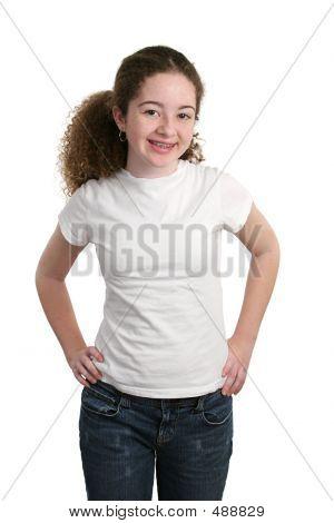 Teen In leere T-shirt