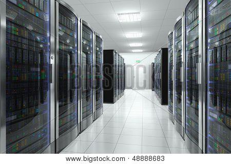 Server room in datacenter