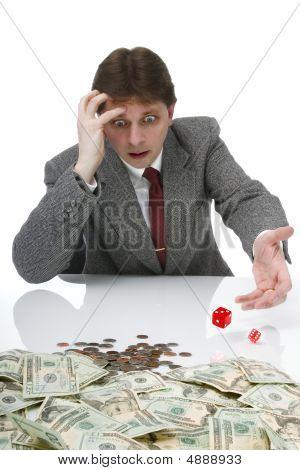 Businessman Playing Craps
