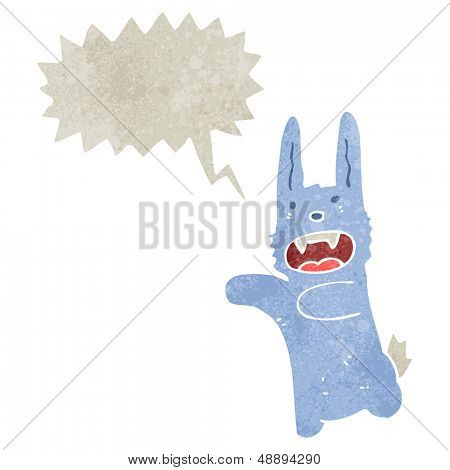 retro cartoon vampire rabbit poster