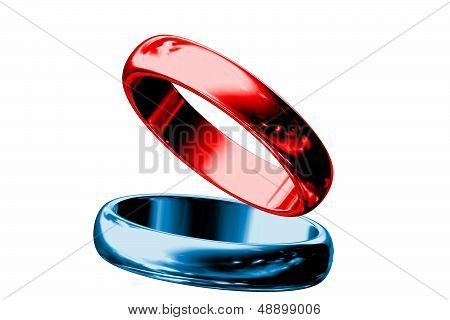 Red And Blue Rings