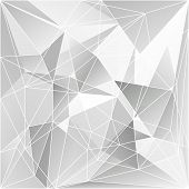 Abstract Triangle Geometrical Gray Background, Vector Illustration EPS10 poster