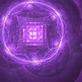 Abstract background. Purple - white palette. Raster fractal graphics. poster
