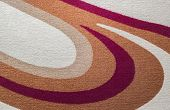 Closeup detail of carpet pattern and texture background poster