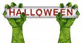 Halloween Zombie Sign
