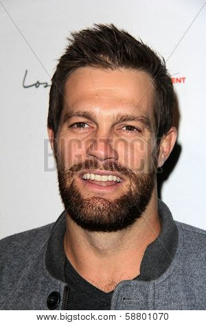 LOS ANGELES - JAN 5:  Geoff Stults at the BCS National Championship Party at Pasadena Convention Center on January 5, 2014 in Pasadena, CA