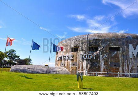 German gun emplacement Batterie Todt in Audinghen, near Cape Gris Nez, Pas de Calais, France.
