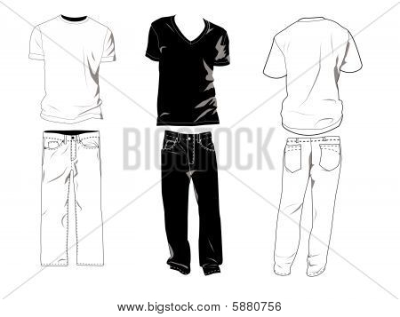 T-shirts And Jeans Template