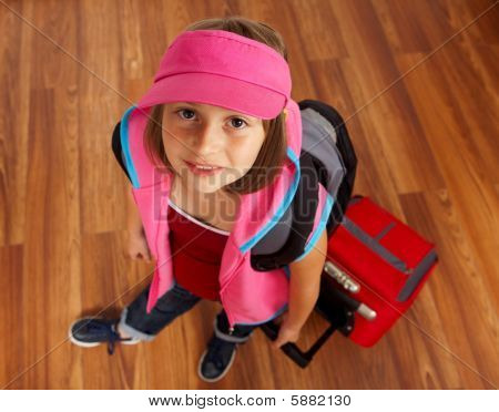 Little Girl With Luggage
