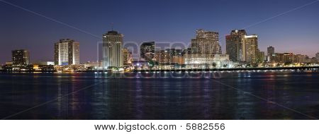 Panorama: New Orleans Skyline at Night