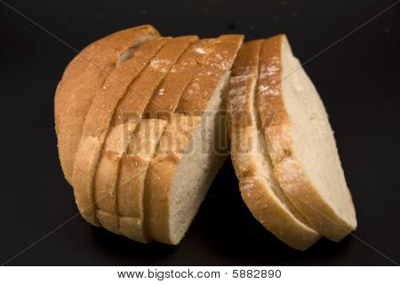 Bread On A Black Background.