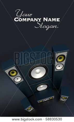 Audio equipment music in dark grey
