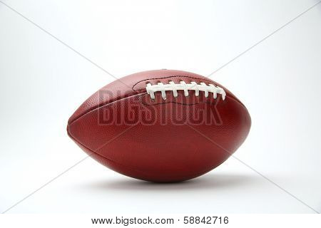 Professional Football Isolated on White Background