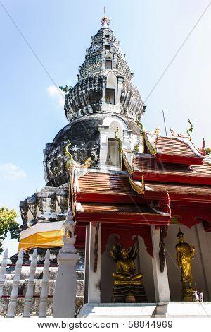 Pagoda In Wat Kru Toa , Chiangmai Thailand poster
