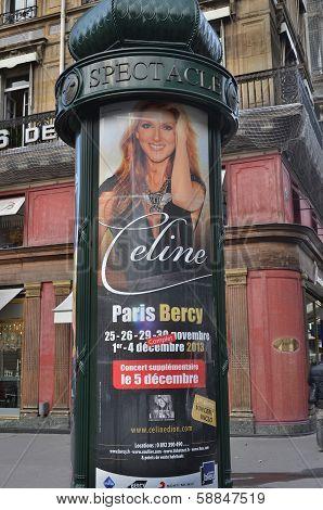 Celine Dion french tour show announcement