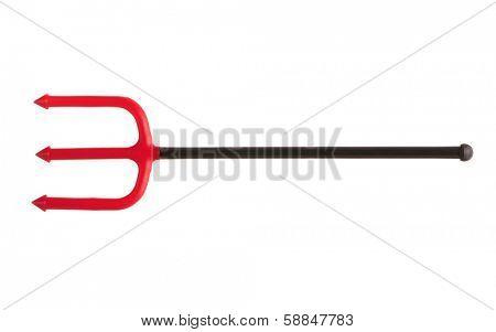 Plastic red trident