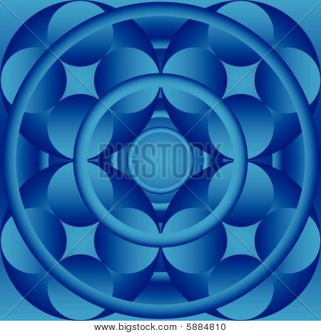 Circles abstract seamless wallpaper illustration gradient background poster