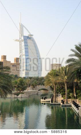 Burj Al Arab Hotel During Sunset, Dubai, Uae