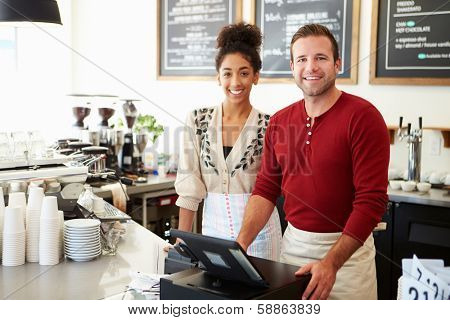 Male Owner Of Coffee Shop