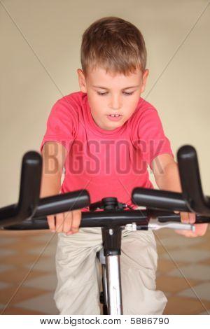 Boy On Training Apparatus