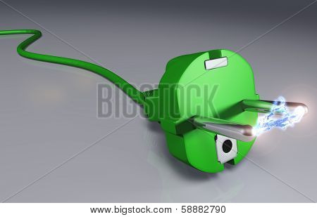 Ecological Plug With High Voltage Arc
