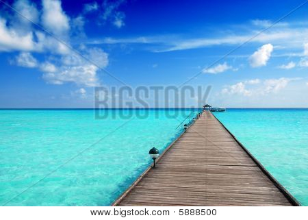 Jetty In The Maldives