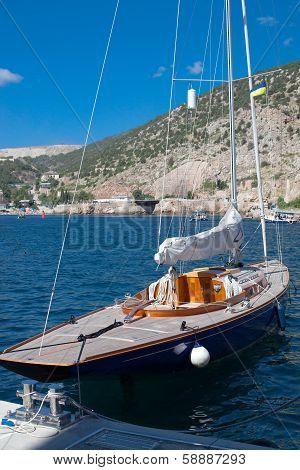 Yacht In Bay Summer Day