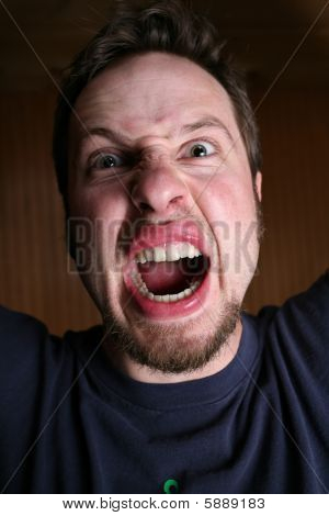 Angry, Crazy Man