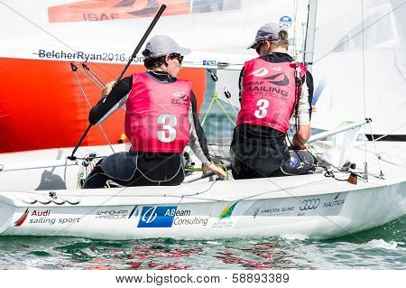 Australia Finishes 2Nd In 470 Class At Isaf Sailing World Cup Miami