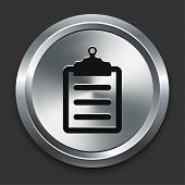 Clipboard Icon on Metallic Button Collection poster