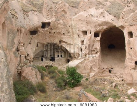 Cave-houses In Rose Tuff Formations (cappadocia)