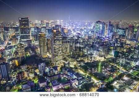 Tokyo, Japan cityscape in the Minato Ward.