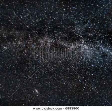 Perseid Meteors On The Milky Way