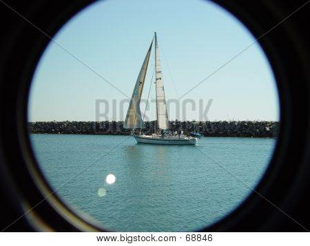 SAILBOAT IN THE JETTY