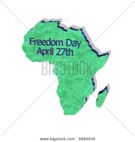 Freedom Day - south africa 3D