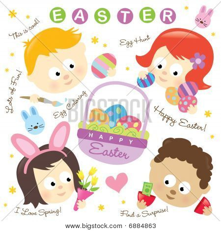 Easter elements w/ kids