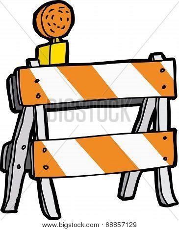 Cartoon Construction Barricade
