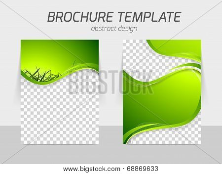 Green grass wave brochure