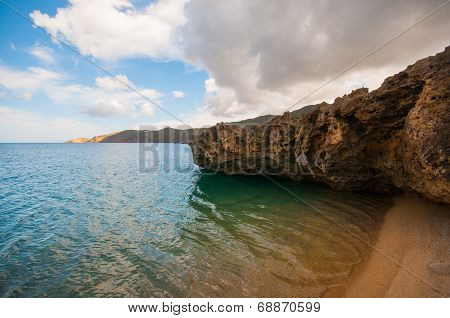 Ftelia beach in Mykonos city