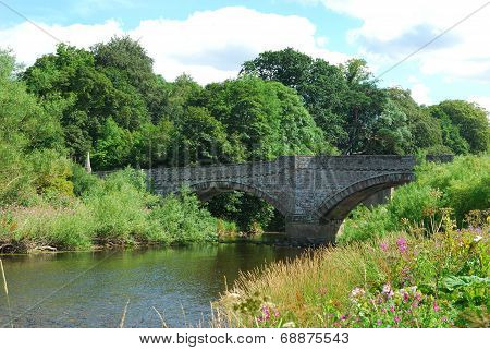 Old Bridge Over River Teviot