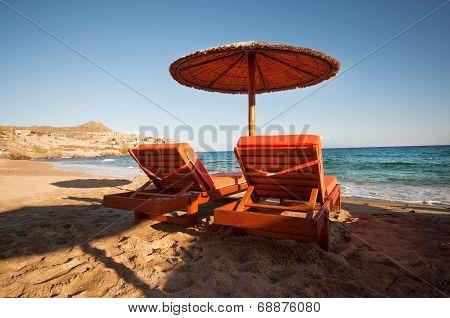 Paradise Beach In Mykonos City
