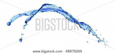 abstract liquid splash isolated on white background poster