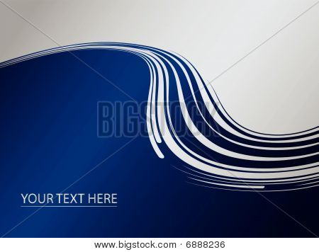 Abstract composition with waves in dark blue colour