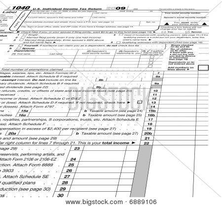 leeres Formular 1040 leer, Steuern
