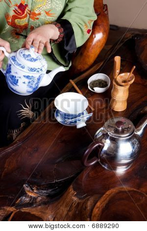 Making fine Chinese tea in the traditional way poster