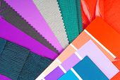 close up of the   color design cloth selection for interior poster