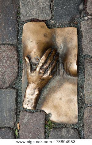 Bronze Relief In De Wallen