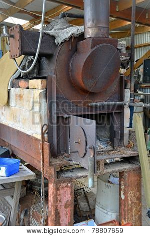 Steam Boiler At Karamea Tea Tree Oil Factory  New Zealand